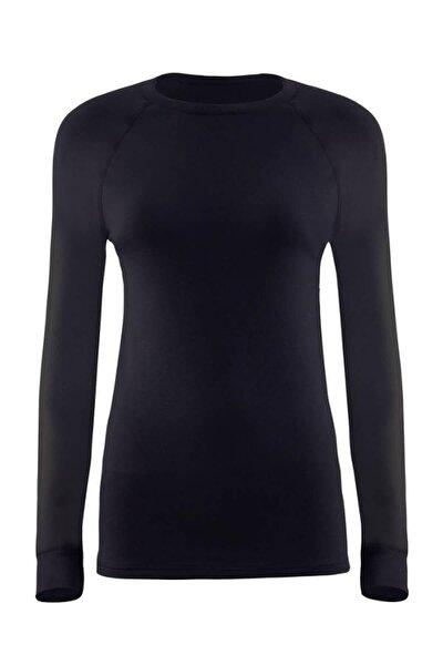 Kadın Siyah 2. Seviye Termal T-shirt 9259