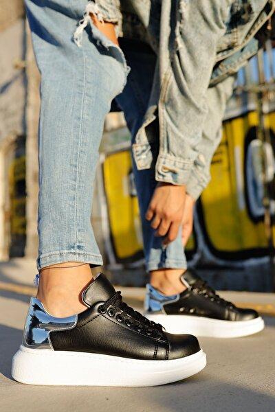Ch259 Bt Kadın Ayakkabı Siyah / Gümüs