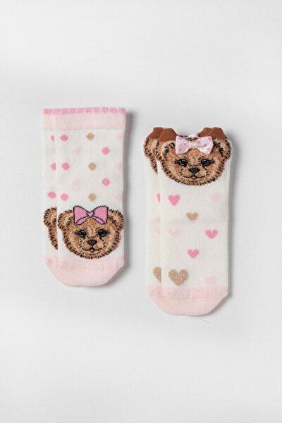 Kız Bebek Pembe Ocean Odyssey Bear 2 'li Çorap