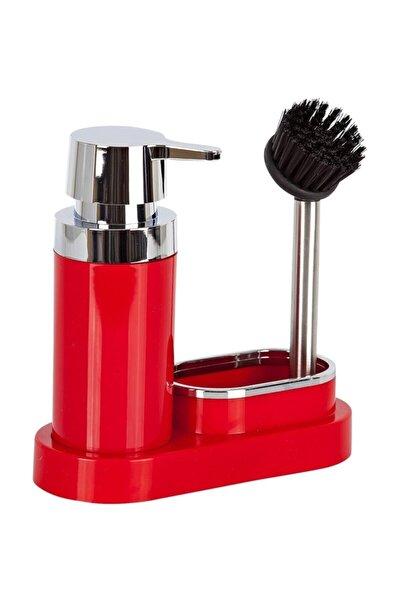 Pirima Nova,polen Mutfak Seti Kırmızı Sıvı Sabunluk-fırça