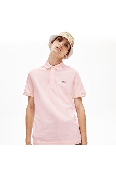 Erkek Regular Fit Pembe Paris Polo Yaka T-Shirt
