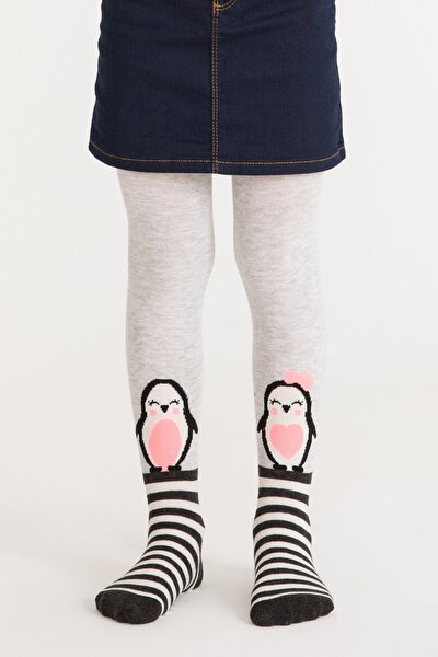 Pretty Penguin Family Kız Çocuk Külotlu Çorap | Pctpfamg18sk