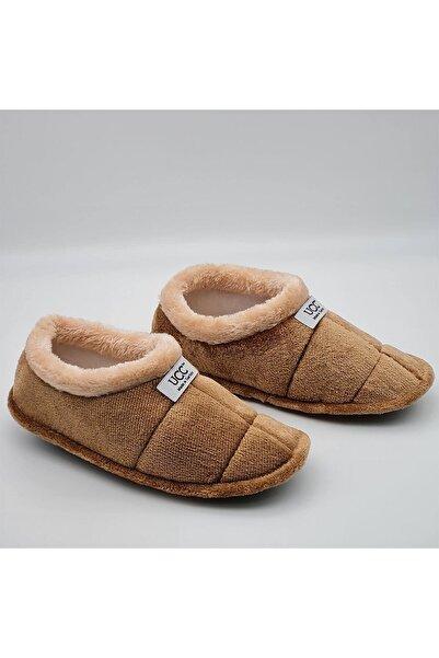 Unisex Kahverengi Panduf Ev Içi Ayakkabısı