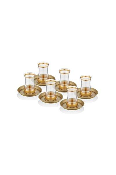 Unique Gold Çay Seti 12 Parça