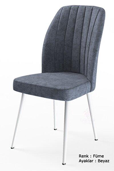 Platinum Serisi Geniş Oturum Alanlı 1.sınıf Sandalye Renk Füme , Ayaklar Beyaz