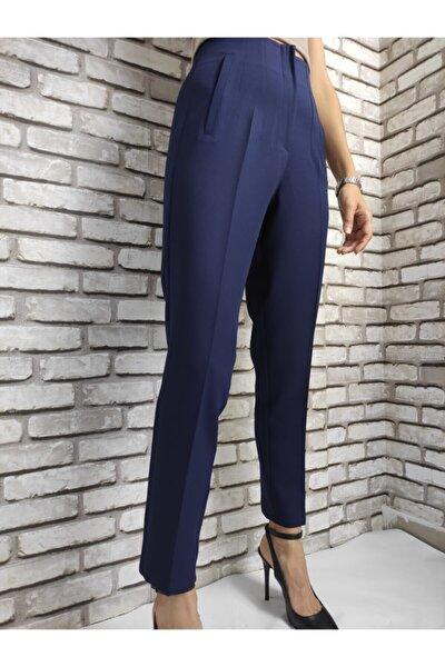 Kadın Lacivert Pensli Pantolon