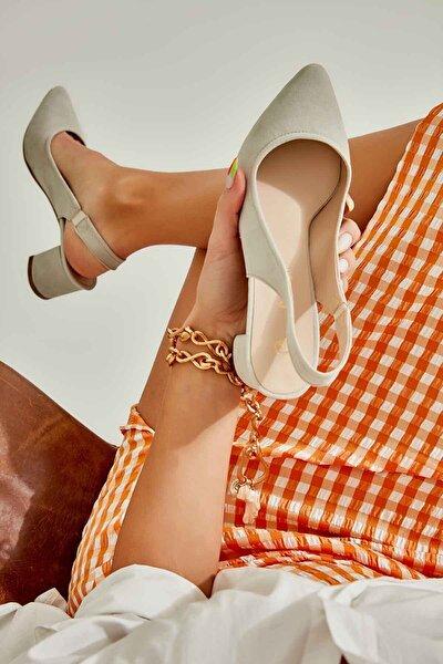 Taş Süet Kadın Klasik Topuklu Ayakkabı K01503721072