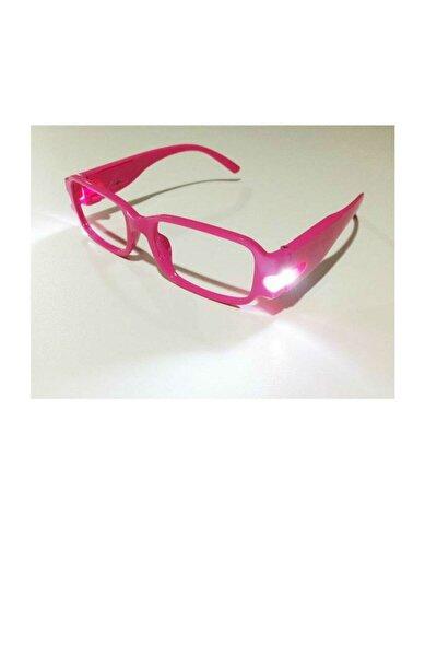 Led Işıklı Camsız Kitap Okuma Gözlüğü - Pembe