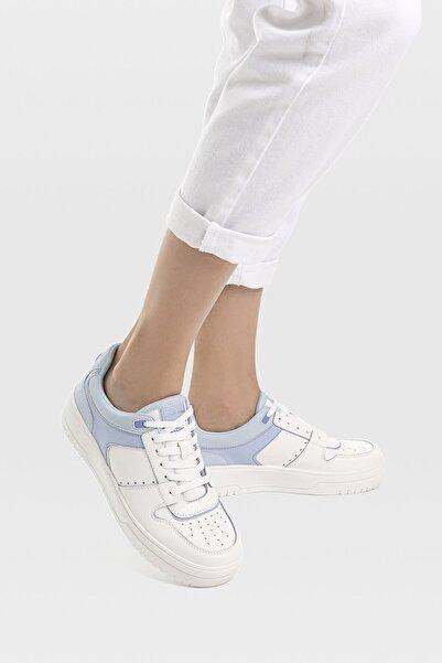 Kadın Mavi Şeritli Spor Ayakkabı 19015770