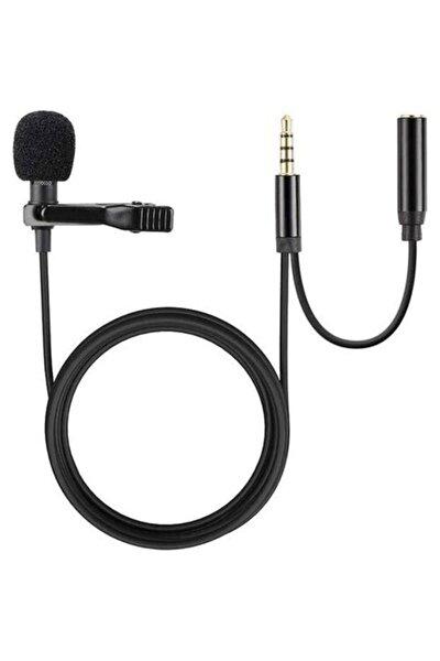 Ergonomik Youtuber Tiktok Yaka Mikrafonu Kulaklık Aparatlı 3.5mm Hd Ses Kaydı
