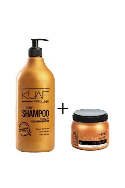 Tuzsuz Keratin Şampuan 1000ml + Keratin Saç Maskesi 250ml