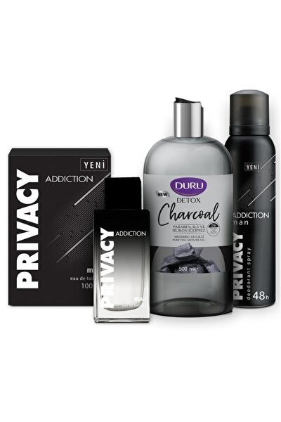 Addiction Edt 100 ml Erkek Parfüm + 150 ml Deodorant + 500 ml Duru Duş Jeli Set 1742751043447