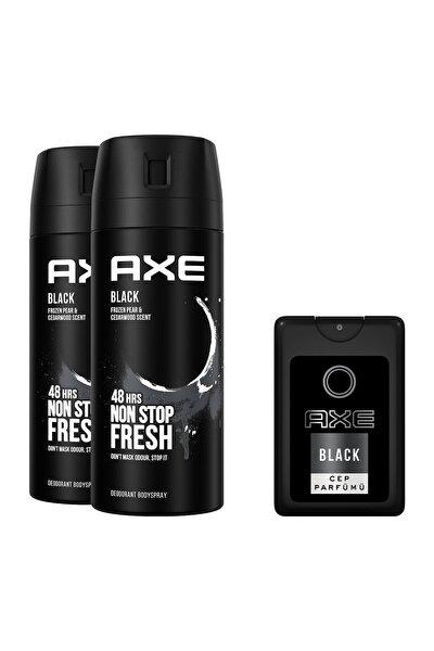 Black Erkek Deodorant Sprey 150 Ml X 2 + Cep Parfümü 17 ml