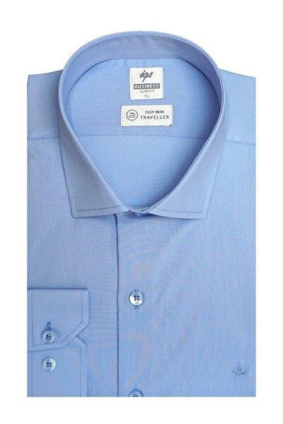 Erkek K.mavi Regularfıt / Rahat Kalıp 7 Cm Klasik Gömlek