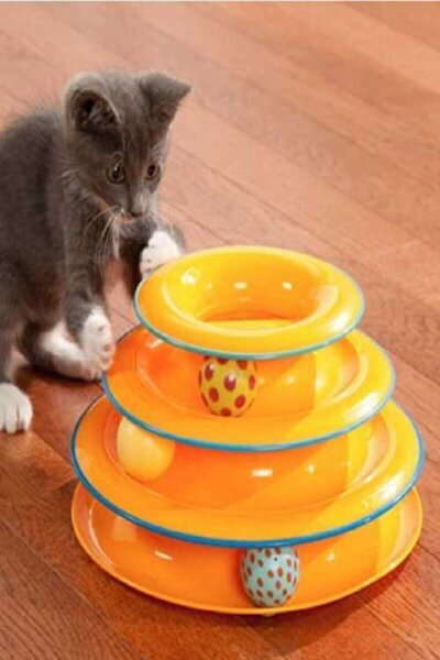 Tower Of Tracks Toplu Yuvarlak Kedi Oyuncağı Kedi Eğlencesi