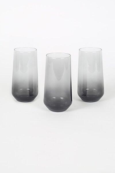 New Iconic 3'lü Meşrubat Bardağı Seti Füme 470 Cc