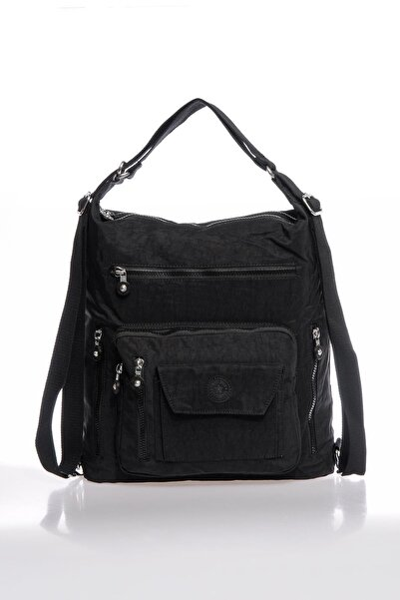 Smbky1205-0001 Siyah Kadın Omuz Ve Sırt Çantası