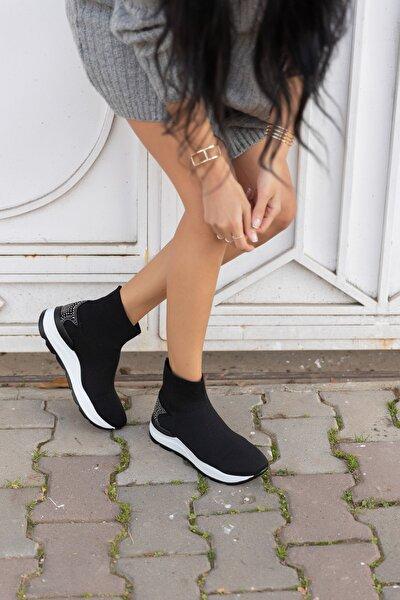 Damlalla Siyah Trıko Sneakers Bot