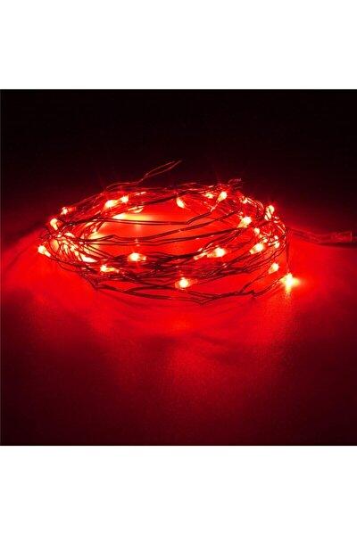 Peri Led Ince Tel Pilli Dekoratif Led Işık Süs 5 Metre Kırmızı