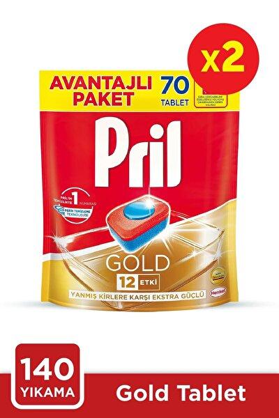 Gold 140 Yıkama Bulaşık Makinesi Deterjanı Tableti (2 x 70'li Paket)