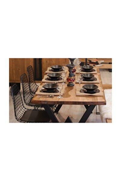 Ntconcept Masif Ağaç Yemek Masası - 85cm-185cm Masa-aynı Gün Kargo