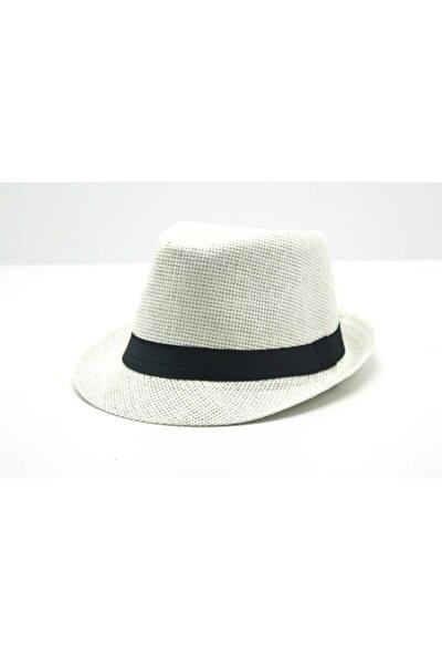 Unisex Beyaz Fötr Föter Michael Jackson Şapka 56-58 Cm