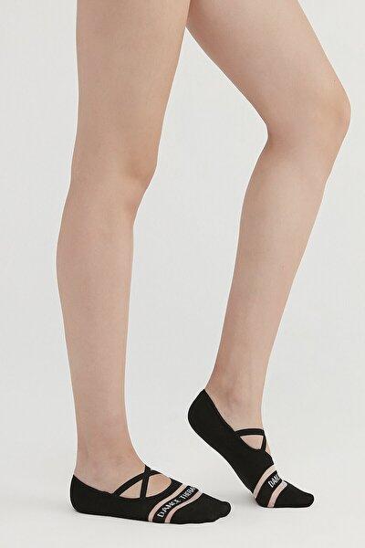 Siyah Dance Bant Babet Çorap