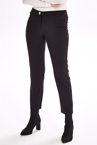 Yanları Süs Dikişli Standart Fit Pantolon 201-3502