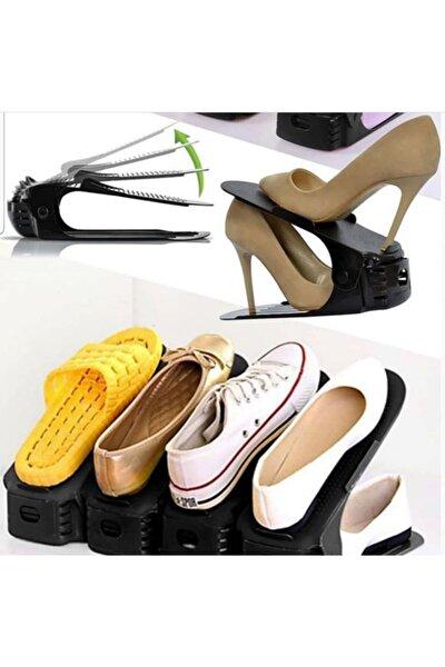 10 'lu Set Yükseklik Ayarlı 4 Kademeli Ayakkabı Rampası Siyah