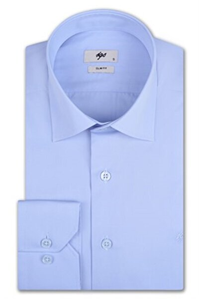 Erkek A.mavi Slım Fıt / Dar Kalıp Std Gömlek