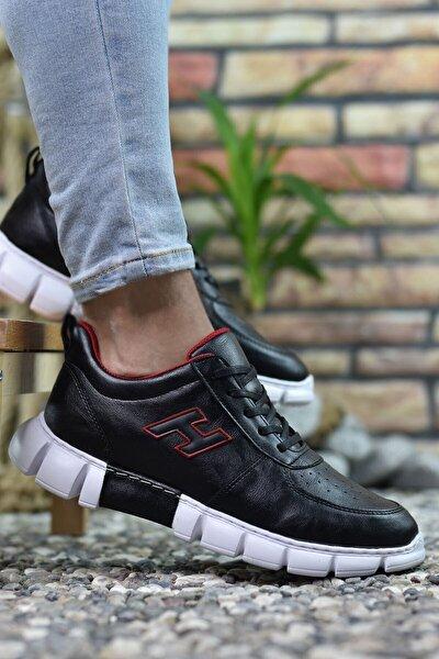 Siyah Kırmızı Erkek Sneaker 0012344