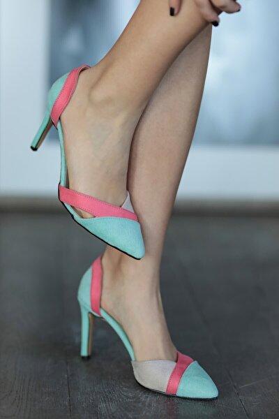 Anita Mavi Bloklu Topuklu Ayakkabı