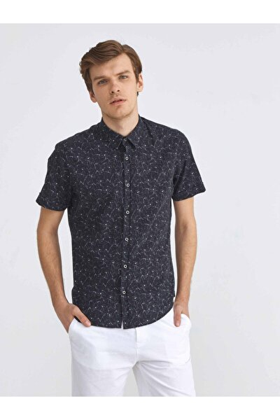 Xınt %100 Pamuk Slim Fit Desenli Gömlek