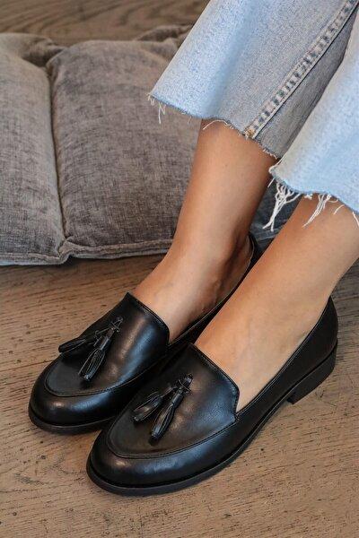 Iris Siyah Oxford Ayakkabı