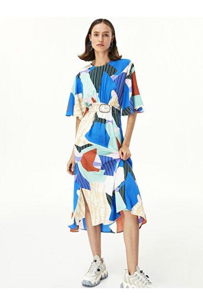 Desen Geçişli Elbise