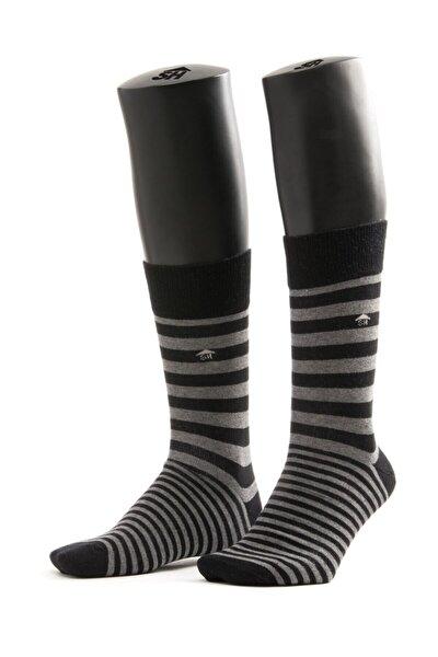 Çift Çizgi Desenli Çorap
