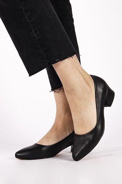 Sandra Siyah Cilt Topuklu Ayakkabı