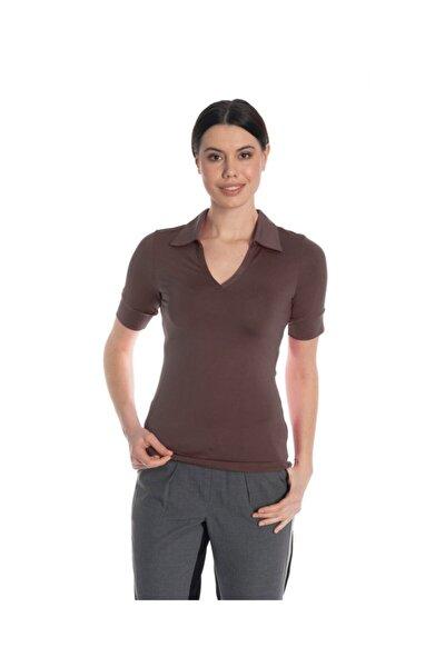 Kadın Kahverengi Tişört - Bga121081