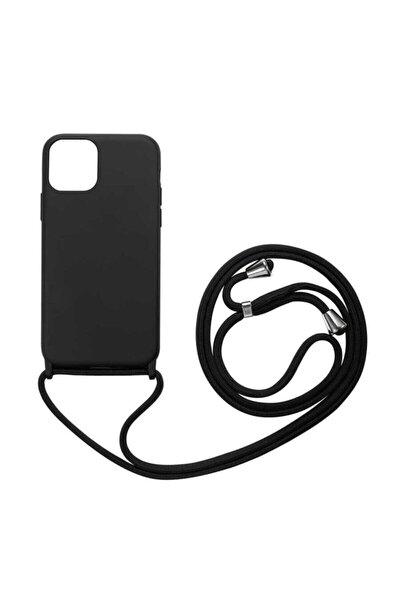 Iphone 12 Pro Kılıf Ipli Boyun Askılı Kadife Yumuşak Lansman Kılıf (6.1)