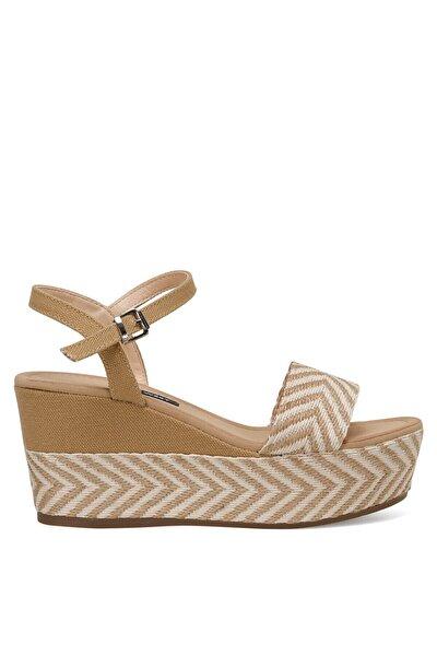 NORMA Haki Kadın Dolgu Topuklu Sandalet 100524808