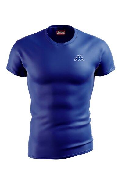 Erkek Saks Mavi Poly Baltel T-Shirt