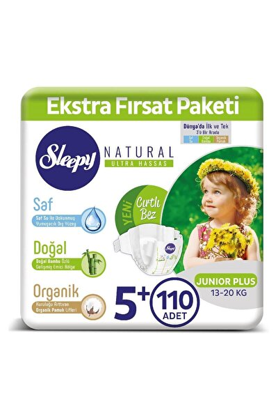 Natural Bebek Bezi 5+ Numara Junior Plus 110 Adet