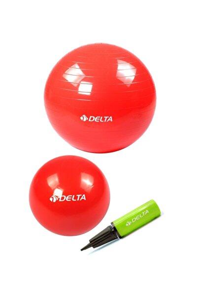 65 Cm Pilates Topu 25 Cm Mini Denge Topu Ve Pompası Seti