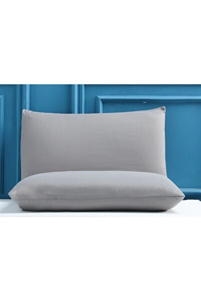 Comfort Gri Yastık Kılıfı 2li Set Pamuk (50x70)