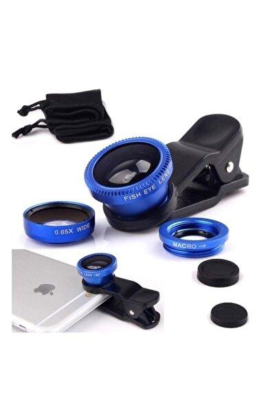 Balık Gözü 3 Geniş Açılı Makro Telefon Lensi