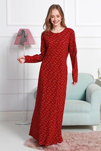 Kadın P.suprem Uzun Kol Normal Beden Karışık Ev Elbisesi