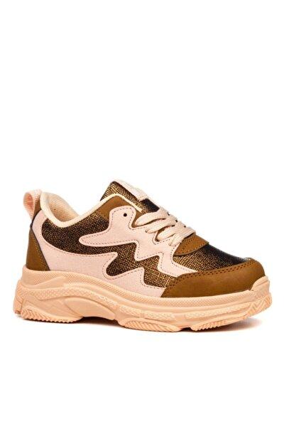 Kız Çocuk Taba Pudra Spor Ayakkabı