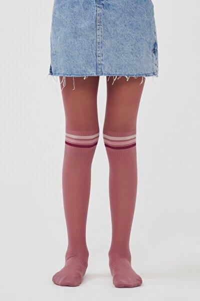 Pretty Colorful Çizgili Külotlu Çorap