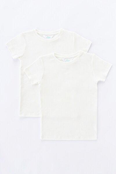 Beyaz Unisex Basic Termal 2li Tişört