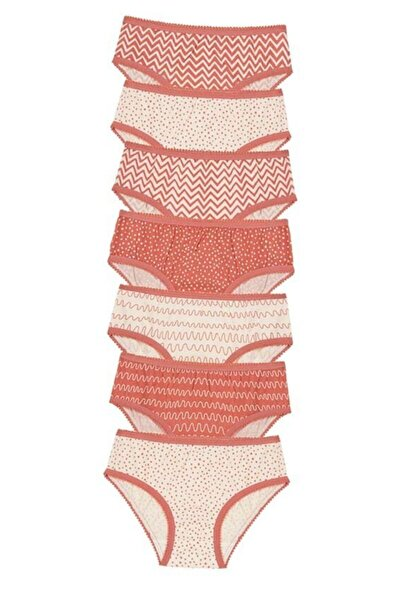 Çok Renkli Kız Çocuk Pattern 7li Slip Külot
